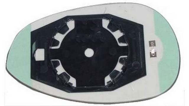 Espejo Cristal + Base Derecho Fiat 500 año 2007 a 2011|***22