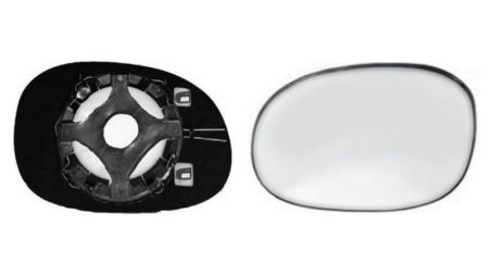 Espejo Cristal + Base Derecho Peugeot 206