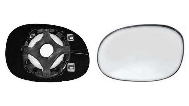 Espejo Cristal + Base Derecho Peugeot 206 CC|**022