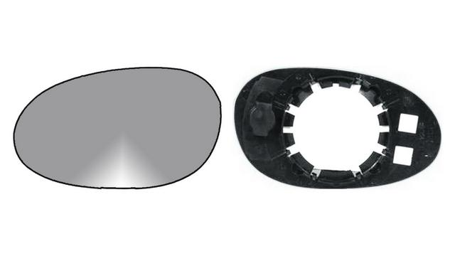 Espejo Cristal + Base Izquierdo Smart Roadster año 2003 a 2006|**011