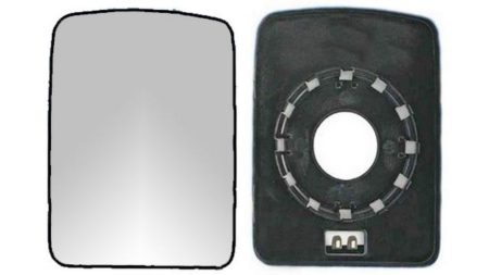 Espejo Cristal + Base Reversible Izdo=Dcho Nissan Interstar